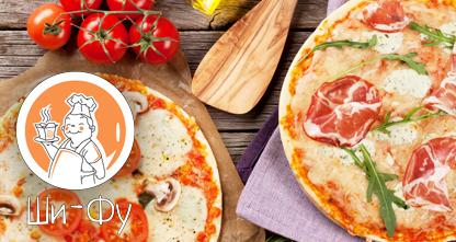 50% скидка на всю пиццу на тонком тесте диаметром 30 см!