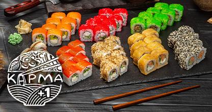 50% скидка на блюда японской кухни — сеты роллов!